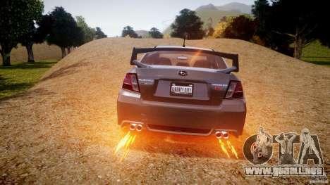 Subaru Impreza WRX STi 2011 para GTA 4 ruedas