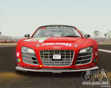 Audi R8 LMS v2.0.1 para visión interna GTA San Andreas