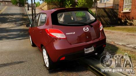Mazda 2 2011 para GTA 4 Vista posterior izquierda