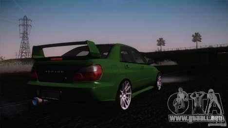 Subaru Impreza WRX STi para las ruedas de GTA San Andreas