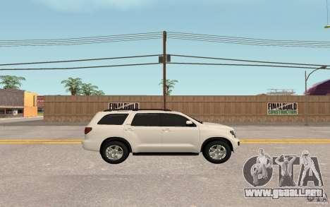 Toyota Sequoia 2011 para la visión correcta GTA San Andreas