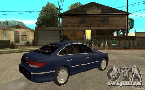 Hyundai Azera 2009 arb drift para la visión correcta GTA San Andreas