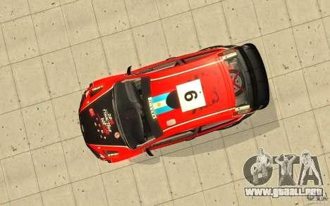 Ford Focus RS WRC 08 para el motor de GTA San Andreas