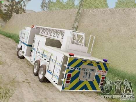 Pierce Puc Aerials. Bone County Fire & Ladder 79 para la visión correcta GTA San Andreas
