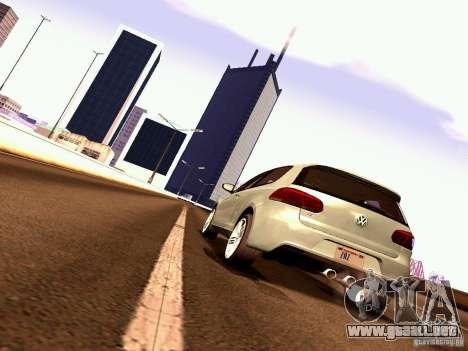 Volkswagen Golf R 2010 para la vista superior GTA San Andreas