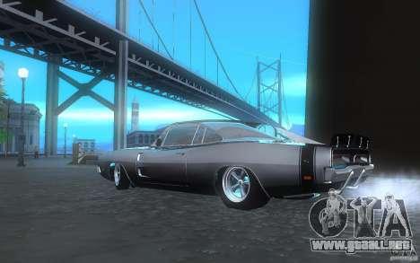 Dodge Charger RT 69 para GTA San Andreas vista posterior izquierda
