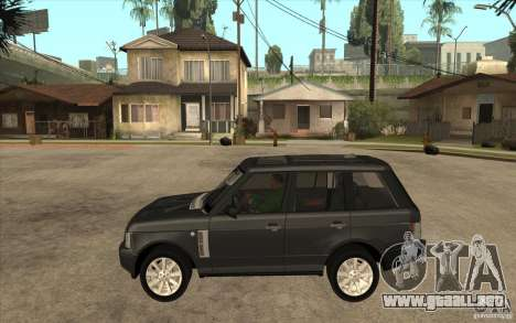 Range Rover Supercharged 2008 para GTA San Andreas left