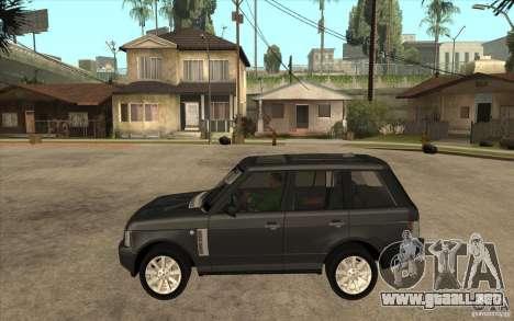 Range Rover Supercharged 2008 para GTA San Andreas left