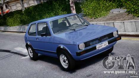 Volkswagen Golf Mk1 para GTA 4 vista superior