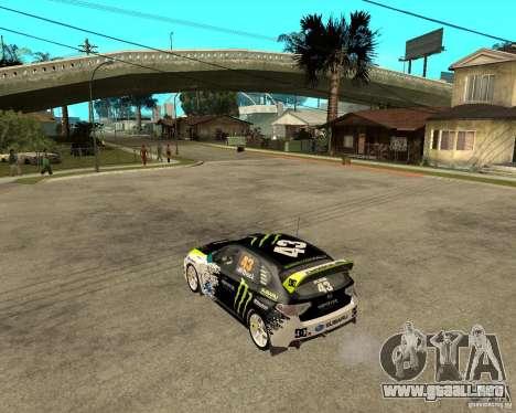 Ken Block Subaru Impreza WRX STi 2009 para GTA San Andreas left