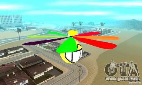 Smiley en el cielo para GTA San Andreas vista posterior izquierda