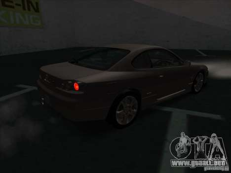Nissan Silvia S15 Tunable KIT C1 - TOP SECRET para GTA San Andreas vista posterior izquierda