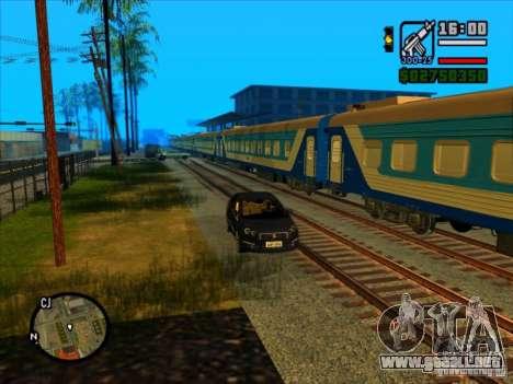 Largo tren para GTA San Andreas tercera pantalla