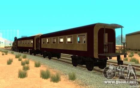 Locomotive para GTA San Andreas vista posterior izquierda