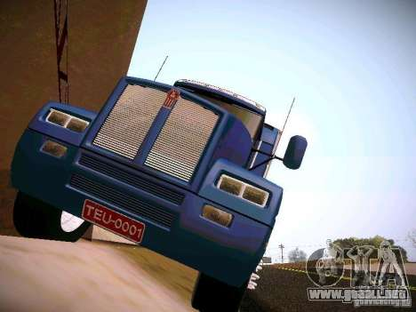 Kenworth T600 para GTA San Andreas vista posterior izquierda