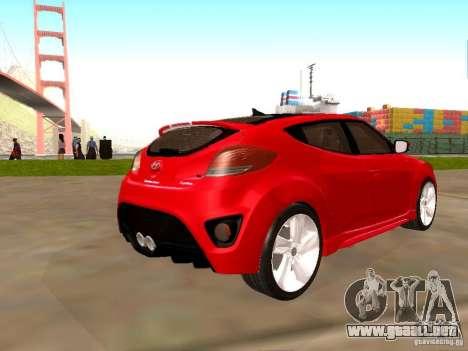 Hyundai Veloster Turbo v1.0 para GTA San Andreas left