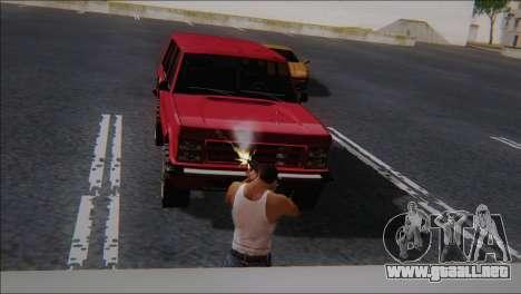 SCAR - H para GTA San Andreas sucesivamente de pantalla
