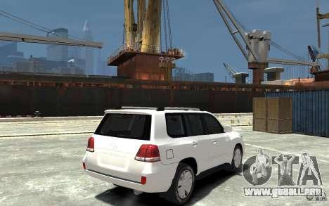 Toyota Land Cruiser 200 para GTA 4 visión correcta