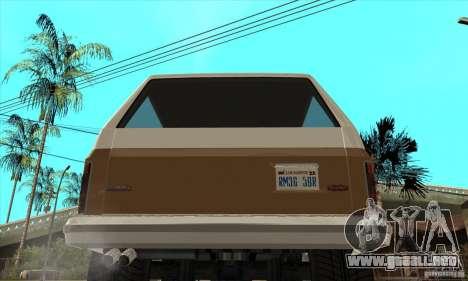 Ford Ranger para la visión correcta GTA San Andreas