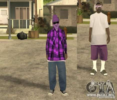 Skinpack Ballas para GTA San Andreas segunda pantalla