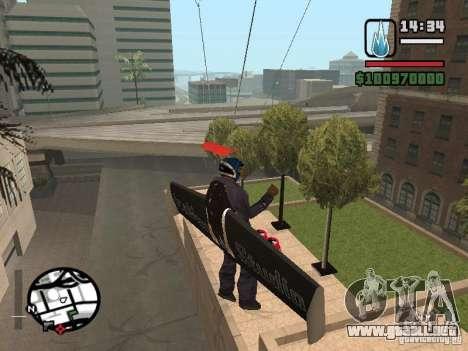 Jetwing Mod para GTA San Andreas sexta pantalla