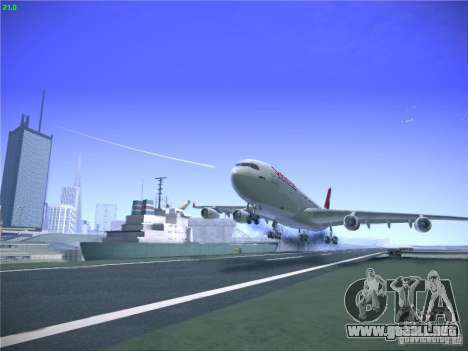 Airbus A340-300 Swiss International Airlines para la vista superior GTA San Andreas