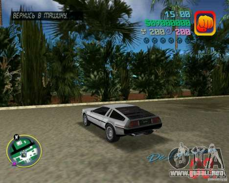 DeLorean DMC 12 para GTA Vice City visión correcta