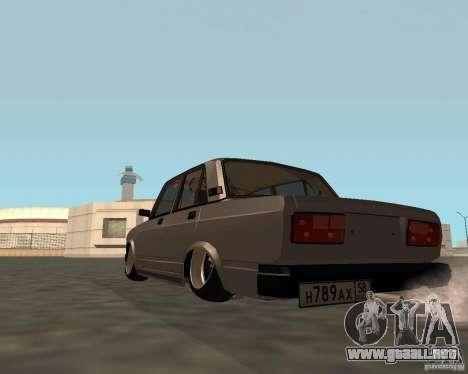 VAZ 2107 JDM para GTA San Andreas left