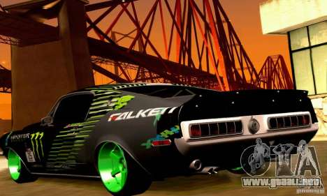 Shelby GT500 Monster Drift para las ruedas de GTA San Andreas