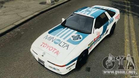 Toyota Supra 3.0 Turbo MK3 1992 v1.0 [EPM] para GTA 4 ruedas