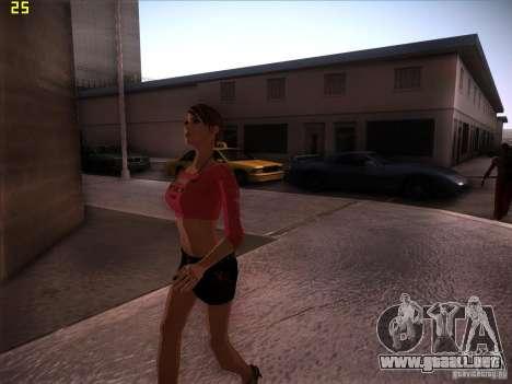 Skin Girl NFS PS para GTA San Andreas tercera pantalla