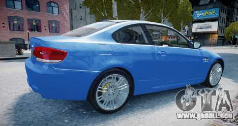 BMW M3 E92 2008 v.2.0 para GTA 4 left