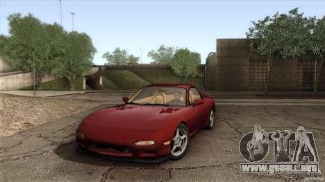 Mazda RX-7 FD 1991 para vista lateral GTA San Andreas