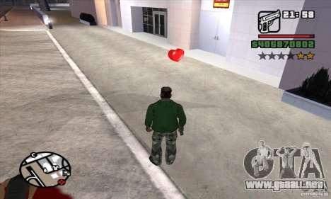 Botiquines de primeros auxilios para GTA San Andreas segunda pantalla
