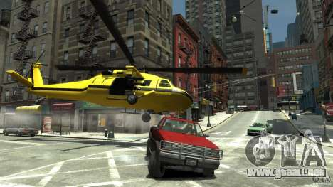 Yellow Annihilator para GTA 4 vista superior