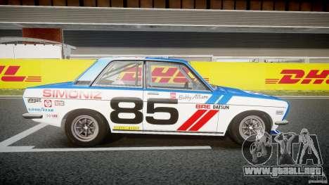 Datsun Bluebird 510 1971 BRE para GTA 4 vista hacia atrás