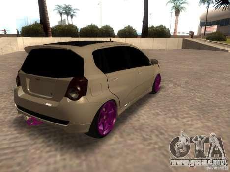 Chevrolet Aveo Tuning para GTA San Andreas left