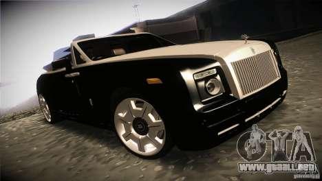 Rolls Royce Phantom Drophead Coupe 2007 V1.0 para GTA San Andreas vista hacia atrás