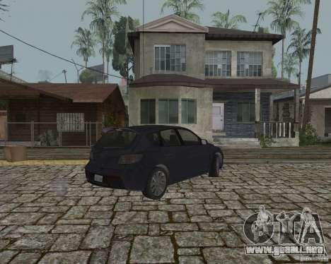 Mazda Speed 3 para GTA San Andreas vista posterior izquierda