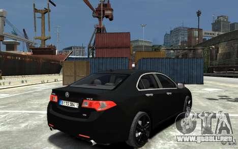 Acura TSX 2011 para GTA 4 visión correcta