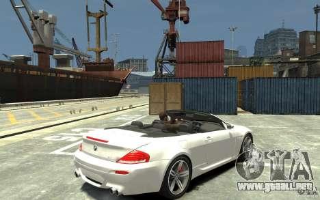 BMW M6 Convertible para GTA 4 visión correcta