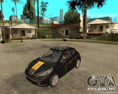 PEUGEOT 207 Griffe LANCARSPORT para GTA San Andreas