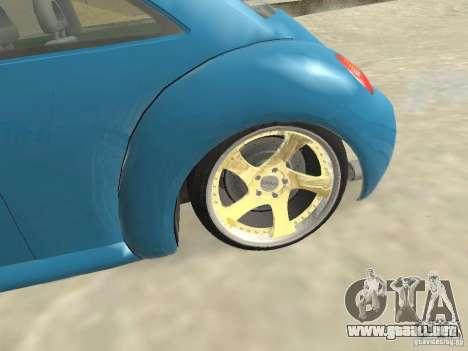VW Beetle 2004 para GTA San Andreas vista posterior izquierda