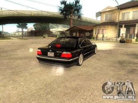 BMW 750iL para GTA San Andreas left