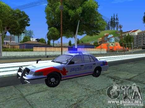 Ford Crown Victoria Police Patrol para GTA San Andreas vista hacia atrás