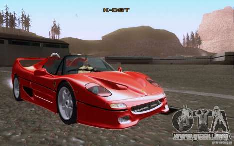 Ferrari F50 v1.0.0 1995 para vista lateral GTA San Andreas