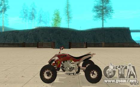 Yamaha YFZ 450 SuperCross Skin 2 para GTA San Andreas left