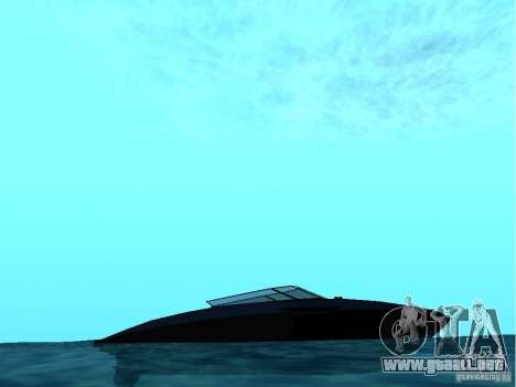 Squalo de Grand Theft Auto IV para GTA San Andreas vista posterior izquierda