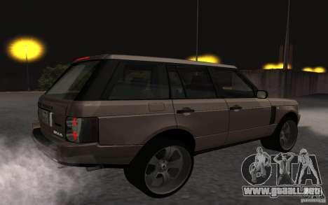 Land Rover Supercharged para la visión correcta GTA San Andreas