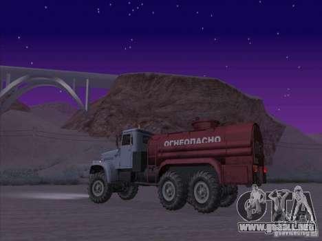 Camión de combustible KrAZ-255 para GTA San Andreas left